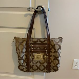 Coach Poppy Glam Tote with Dustbag